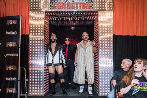 The One Percent with MK enter the Future Stars of Wrestling Arena in Las Vegas, NV.