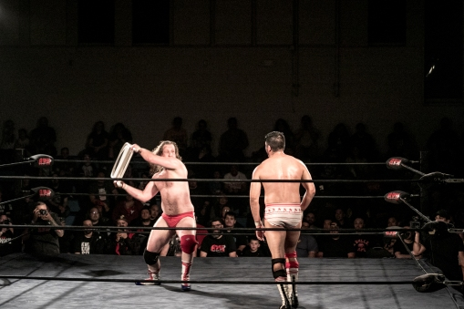Levi Shapiro uses a chair that was handed to him by Brian Zane.