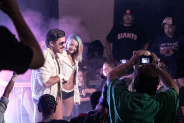 Joey Ryan and Xia Brookside are met with the APW Universe.