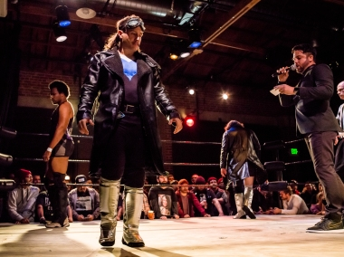 A space introduction takes us to the main event of Bar Wrestling.