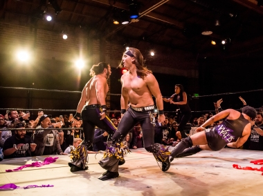 The Young Bucks topple the giant electrical storm of sports entertainment.